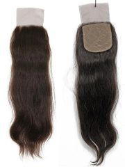 Virgin Hair Silk Base Closure / Natural Curl