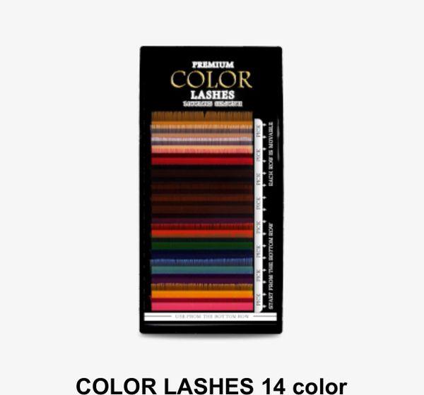 Color lashes (mermaid)