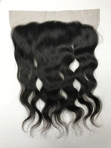 Brazilian Virgin Hair 4 x 13 Lace Frontal Closure / Natural Curl