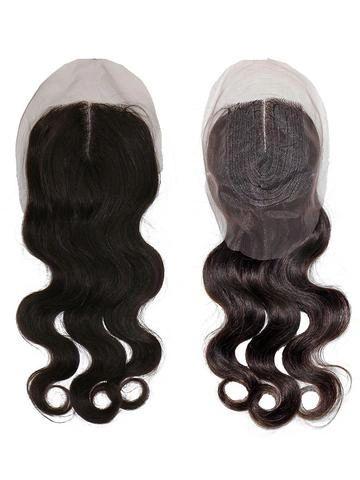 1 Part Brazilian Virgin Natural / Body Curl Lace Closure