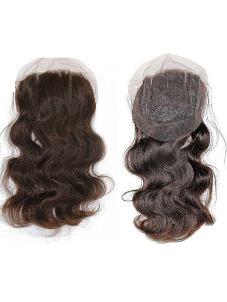 3 Part Brazilian Virgin Natural Lace Closure in Natural Curl or Body Curl