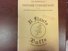 Music - Demersseman - Fantaisie Concerto - flute, oboe and piano