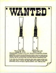 Print - WANTED - Oboe Reed - copyright