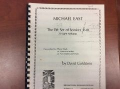 Music - David Goldstein - Michael East - The Fift Set of Bookes, 1618 for recorders