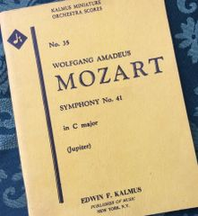 Music - Mozart Symphony No 41 - Kalmus miniature score