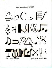 Print - Music Alphabet - copyright