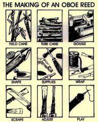 Print - Making an Oboe Reed - copyright