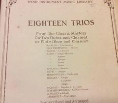 Music - Andraud Trios (3 books) for 2 fl/cl or fl/ob/clar