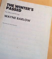 Music - Wayne Barlow - The Winter's Passed