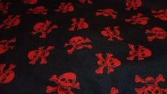 Black with Red Skulls