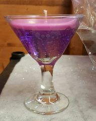 Mini Martini Glass Gel Candle