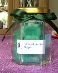 Small soaps in a jar