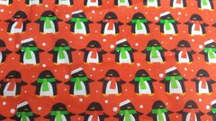 Red with Penguins