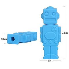 Chew pencil topper(Robot)
