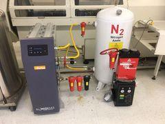 Parker Nitrogen Generator N2 MIDIGAS MIDIGAS6NCALA w/ Tank & PNEUDRI Air Dryer