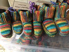 Handknitted booties - medium