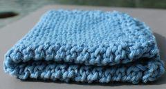 Sky Blue Cotton Dishcloth
