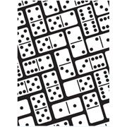 "Dominoes Background Embossing Folder (4.25""x5.75"") by Darice"