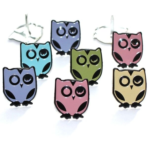 Winking Owl brads (pastel) by Eyelet Outlet