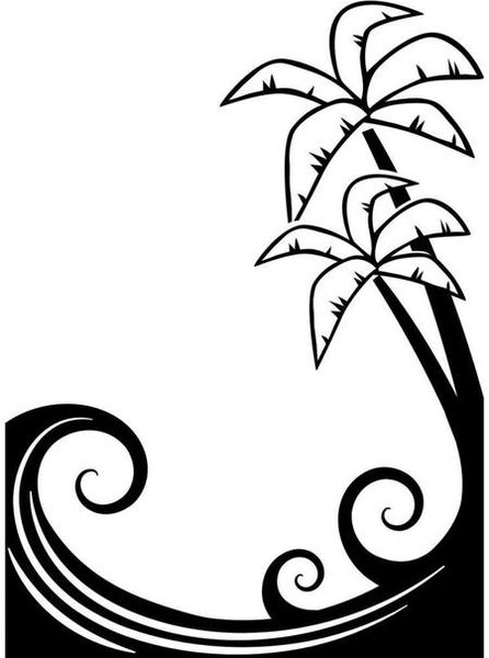 "Palm Tree and Waves Embossing Folder (4.25""x5.75"") by Darice"