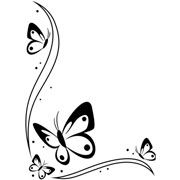 "Butterflies in Corner Embossing Folder (4.25""x5.75"") by Darice"