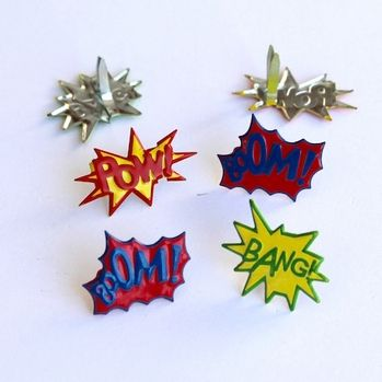 Super Hero Saying brads by Eyelet Outlet