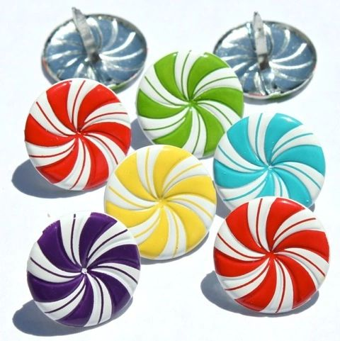 Peppermint Candy brads by Eyelet Outlet