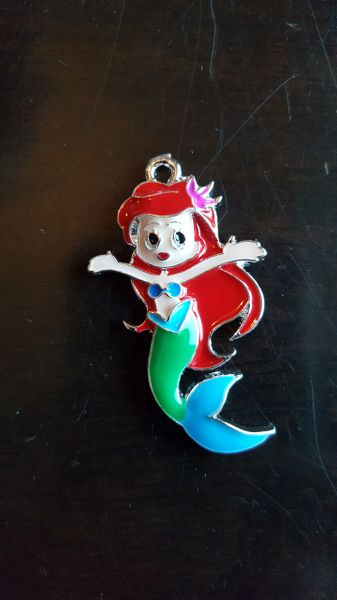 Enamel Mermaid Pendant 45mm