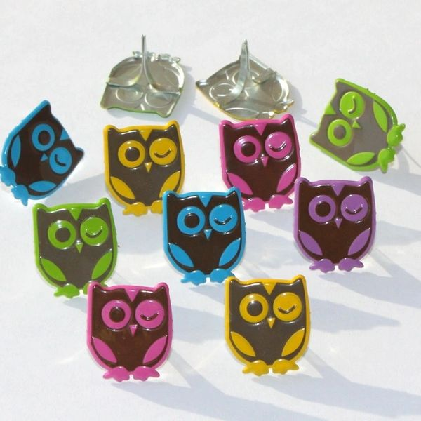 Winking Owl brads (bright) by Eyelet Outlet