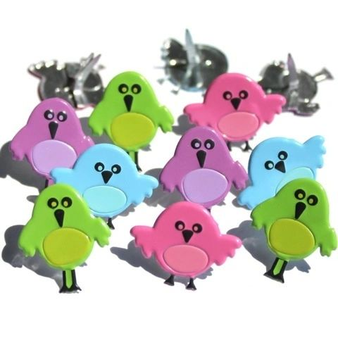 Cute Bird brads by Eyelet Outlet