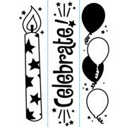 "Celebrate/Birthday Trio (4.25""x5.75"") embossing folder by Darice"