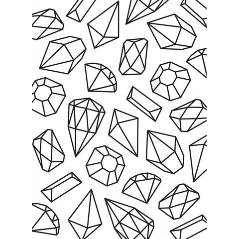 Gems Background - Darice Embossing Folder - 4.25 x 5.75 inches