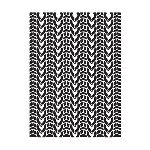 """Sweater Background Embossing Folder (4.24""""x5.75"""") by Darice"""
