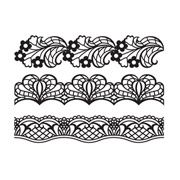 Lace Doily - 4.25 x 5.75 inches - 3 pieces