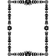 "Floral Border Embossing Folder (4.25""x5.75"") by Darice"