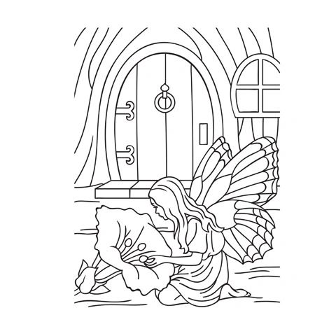 Darice Embossing Folder - Outdoor Fairy Scene - 4.25 x 5.75 inches