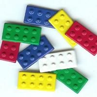 Lego Building Block brads by Eyelet Outlet