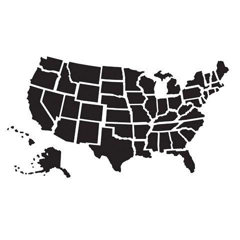 "USA Map Embossing Folder (4.24""x5.75"") by Darice"