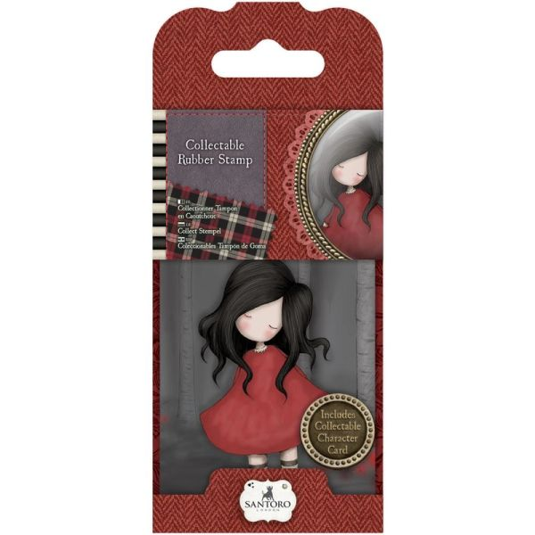 No. 18, Poppy Wood Gorjuss Mini Stamp by Santoro