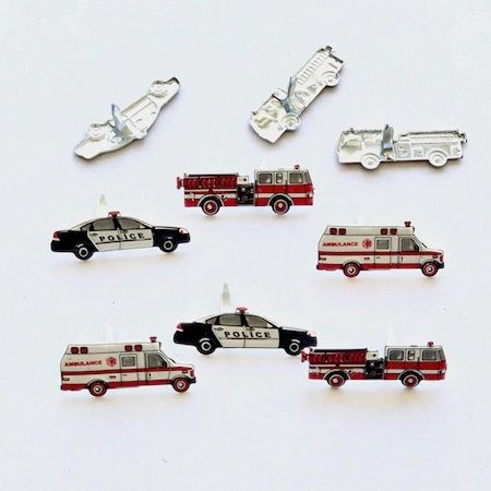 First Responder brads (12pcs) by Eyelet Outlet