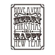 Darice Embossing Folder - Merry Christmas Verse - 4.25 x 5.75 inches