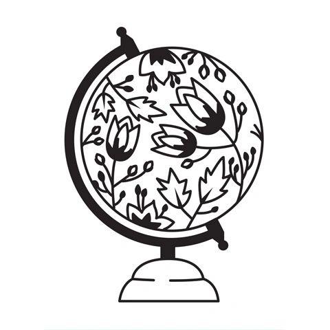 "Globe Embossing Folder (4.25""x5.75"") by Darice"