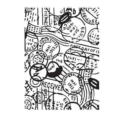 "Passport Embossing Folder (4.24""x5.75"") by Darice"