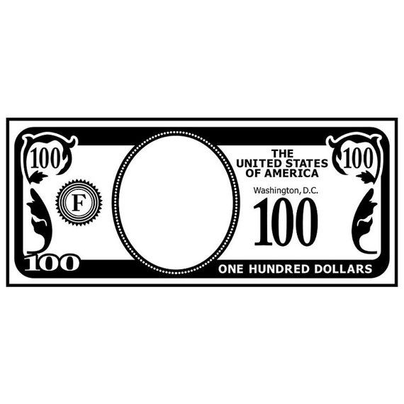 "$100 Bill, Add a Face Money Embossing Folder (4.25""x5.75"") by Darice"