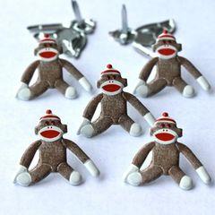 Sock Monkey Brads by Eyelet Outlet