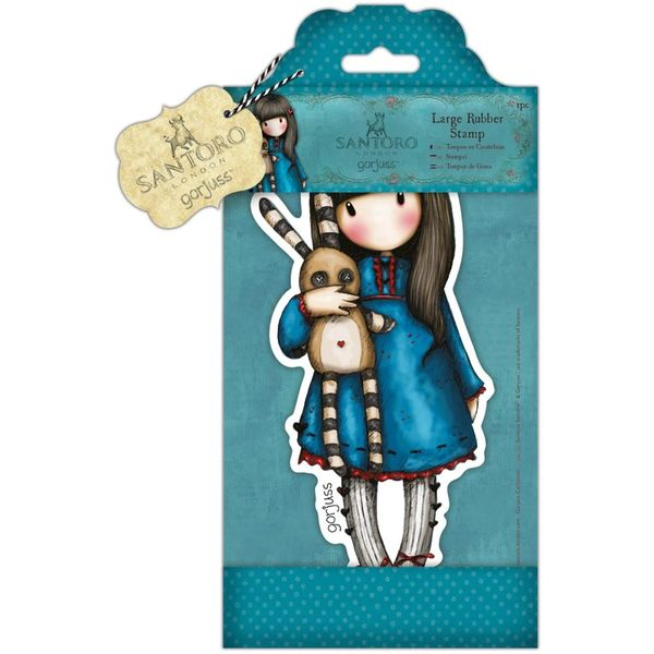 "Hush Little Bunny Gorjuss Large Stamp by Santoro 4.75""x8.25""(12cm x 21cm)"