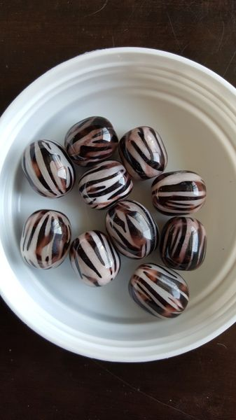 Zebra Print Watermelon Bead (19mm) 10pcs