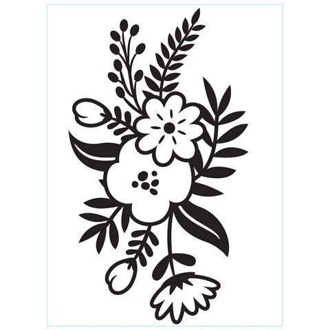 """Small Floral Sprig, Embossing Folder (4.25""""x5.75"""") by Darice"""