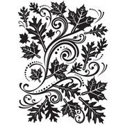 "Fall Leaves Swirl (4.25""x5.75"") embossing folder by Darice"