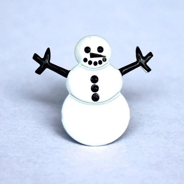 Snowman brads (12pcs) by Eyelet Outlet